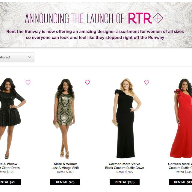 Rent the Runway Plus.