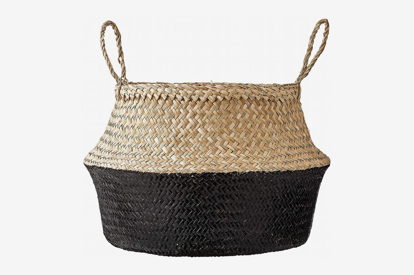 Bloomingville Round Natural Seagrass Basket with Handles