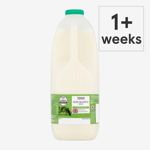 Tesco British Semi Skimmed Milk 2.272L 4 Pints