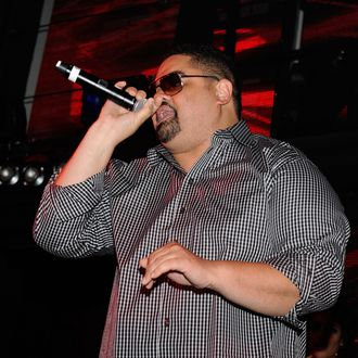 LAS VEGAS, NV - JUNE 15: Heavy D performs onstage during the BACARDI