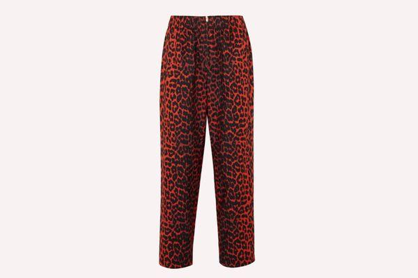 Ganni Bijou Leopard-Print Pants