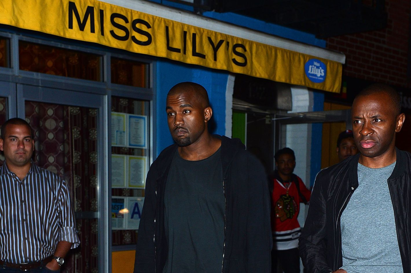 7a62738e42 Kanye Brings Bey and Jay to Miss Lily s  Heidi Klum Stumbles Out of the  Spotted Pig