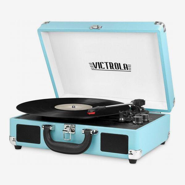 Victrola Vintage 3-Speed Bluetooth Suitcase Turntable with Speakers