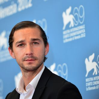 US actor Shia Lebeouf poses during the photocall of