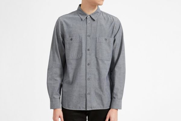 Everlane Chambray Standard Fit Work Shirt