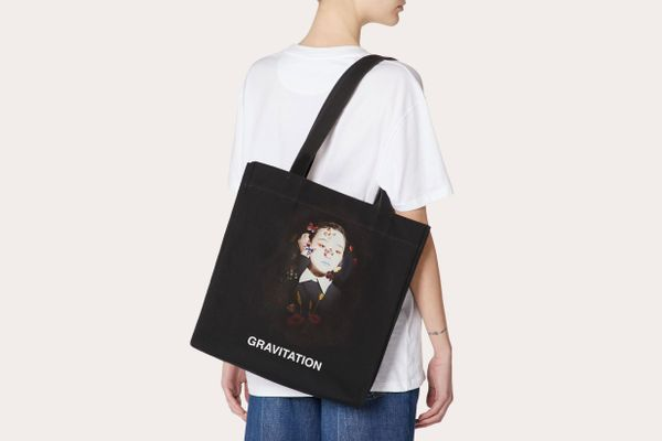"Shopper With ""Gravitation"" Print"