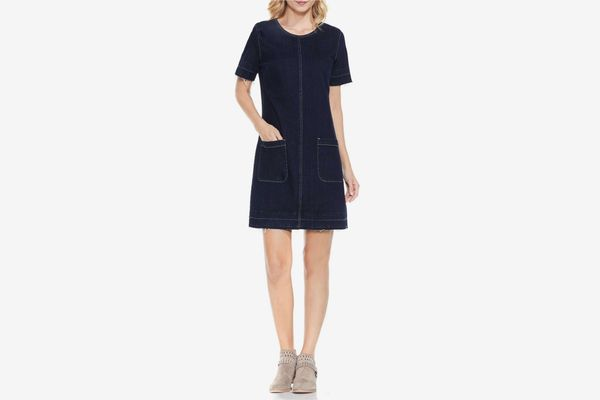Vince Camuto Release Hem Denim Dress
