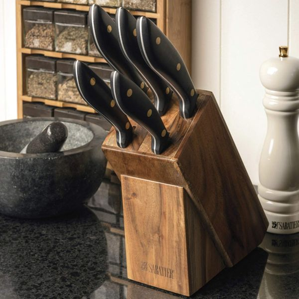 Sabatier Knife Block Set, 5-Piece