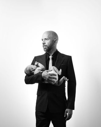 Neil Strauss and his son.