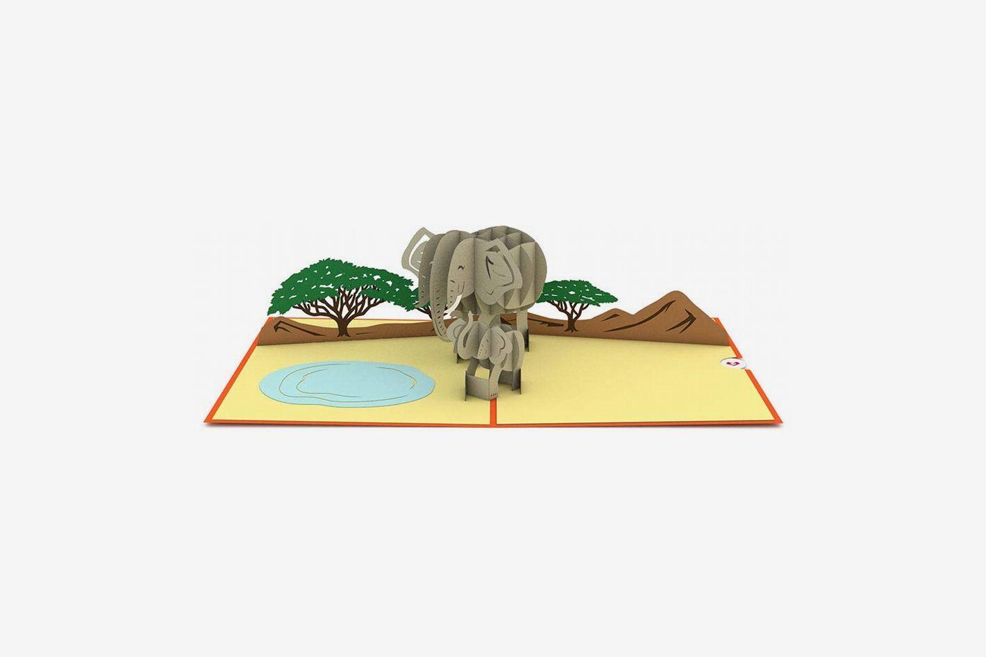 Lovepop Elephant Family Pop Up Card