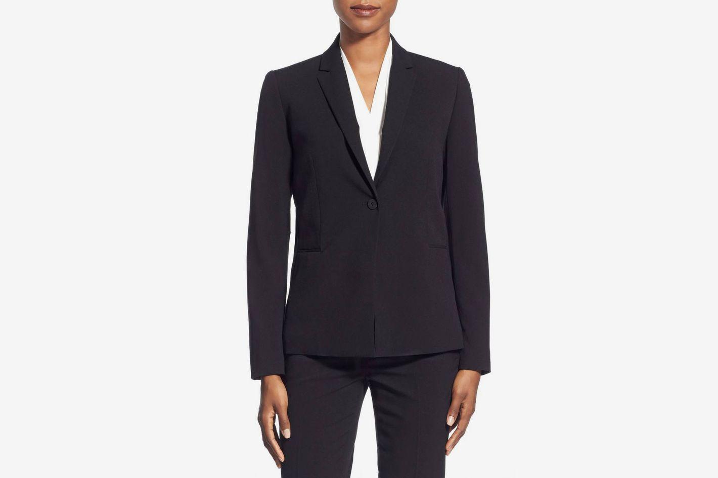T Tahari Jolie Stretch Woven Suit Jacket