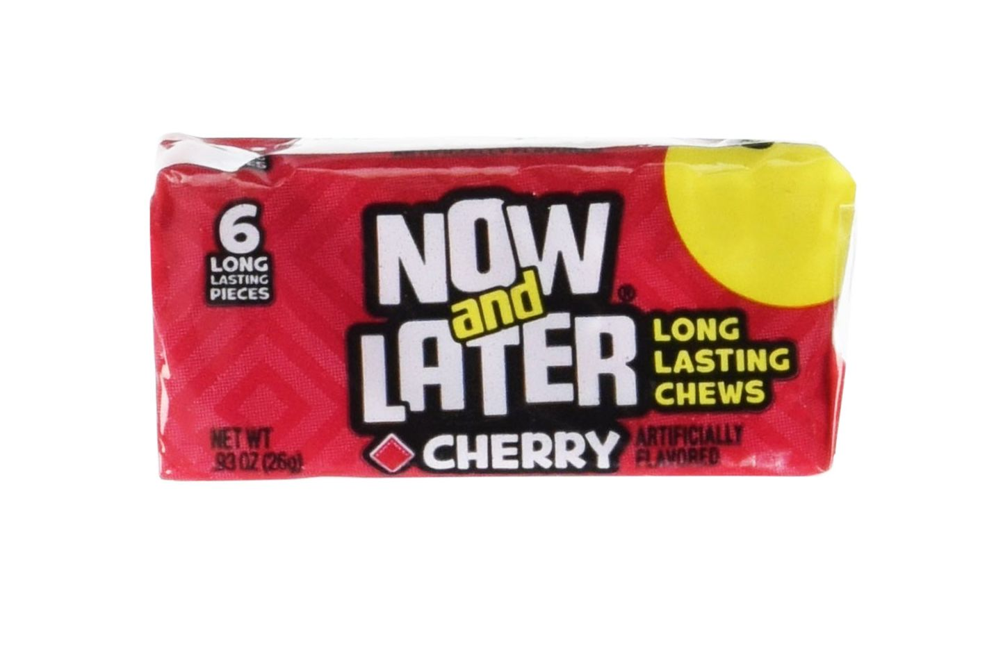 24 Pack of Now & Later Original Taffy Chews Candy, Cherry