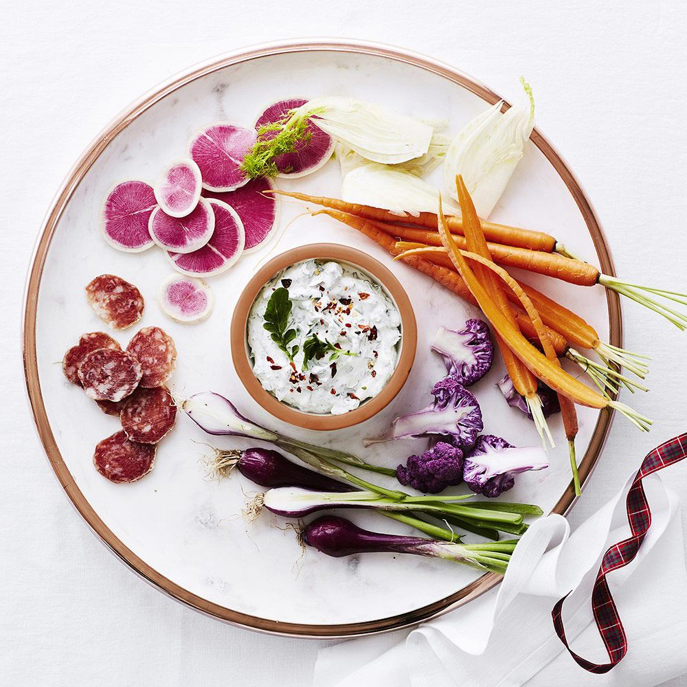 Williams Sonoma marble & copper chip and dip bowl
