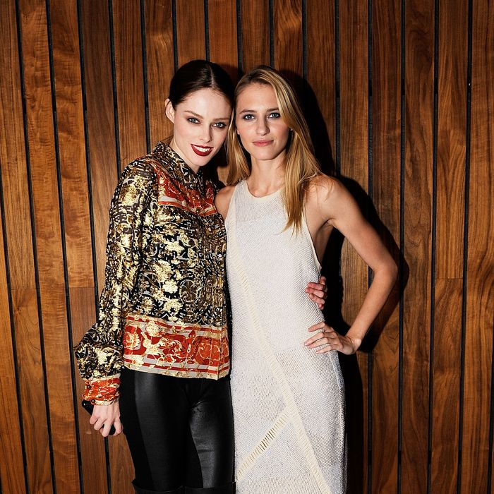 Coco Rocha and Sara Ziff.