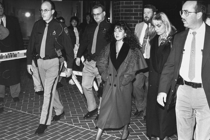 Lorena Bobbitt leaving court.
