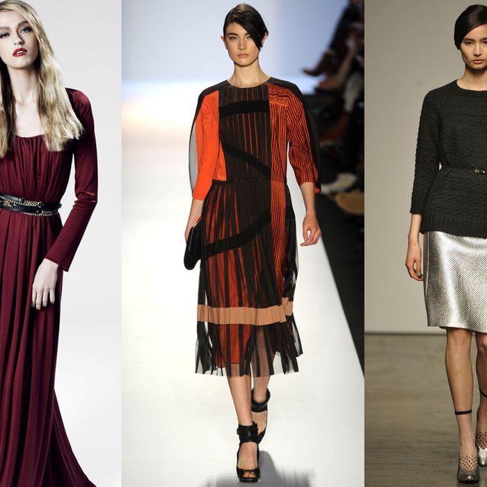 From left: new looks from Z Spoke by Zac Posen, BCBG Max Azria, Rachel Comey.