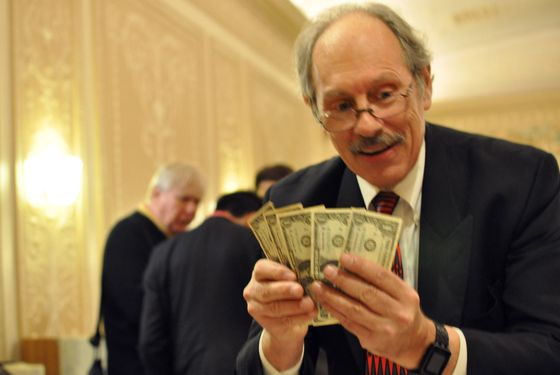 Peter Samelson is about to turn these into $100 bills.