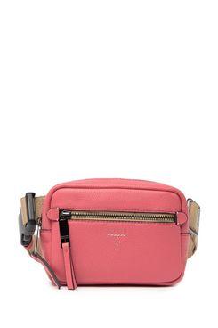 T Tahari Krystal Leather Camera Belt Bag