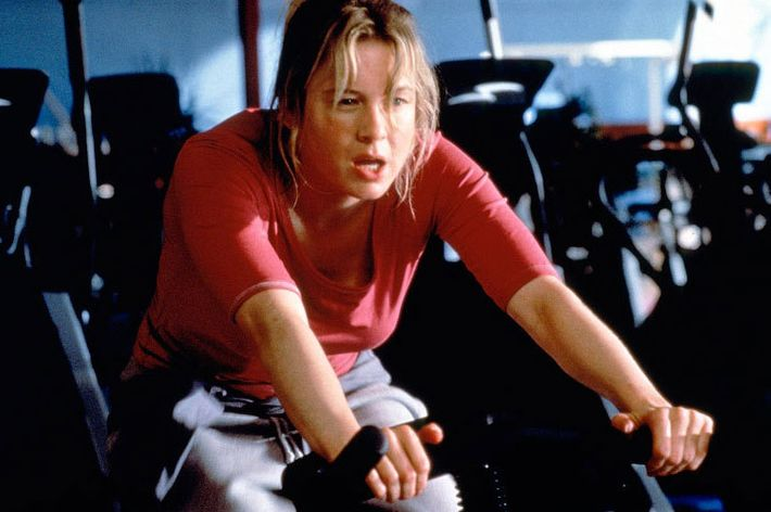 renee zellweger on exercise bike - strategist best fitness gear and best stationary bikes