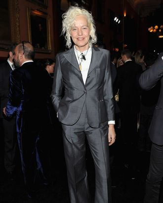 Ellen Von Unwerth attends the celebration of the global launch of the 2012 Pirelli Calendar by Mario Sorrenti gala dinner at the Park Avenue Armory on December 6, 2011 in New York City.