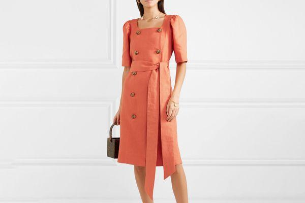 Lisa Marie Fernandez Diana linen midi dress