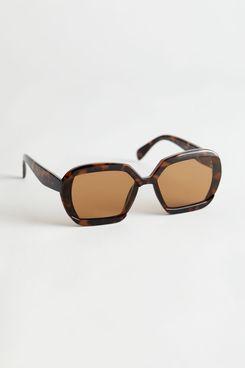 Squared Tortoise Sunglasses