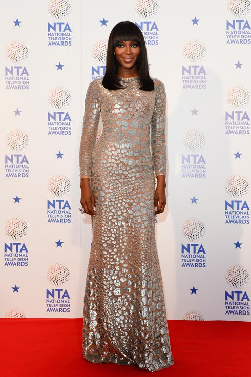 Naomi Campbell poses in the winners room at the National Television Awards at 02 Arena on January 22, 2014 in London, England.