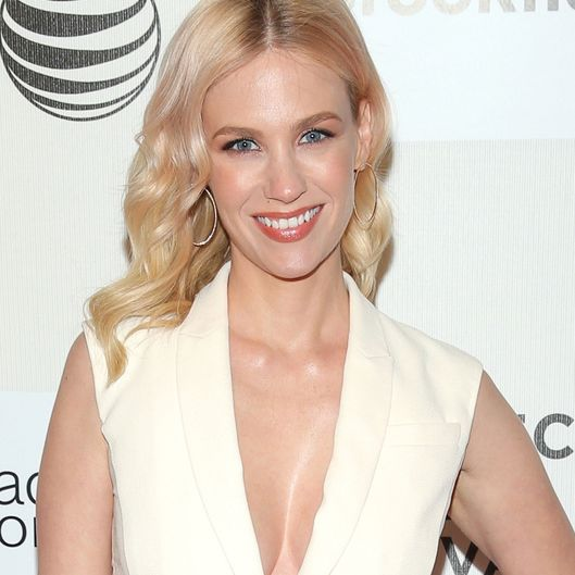 "NEW YORK, NY - APRIL 19:  Actress January Jones attends the premiere of ""Good Kill"" during the 2015 Tribeca Film Festival at BMCC Tribeca PAC on April 19, 2015 in New York City.  (Photo by Jemal Countess/Getty Images for the 2015 Tribeca Film Festival)"