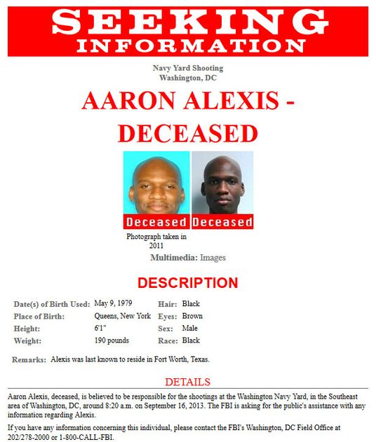 Navy Yard Shooting Fbi Video Shows Gunman Aaron Alexis: Aaron Alexis Identified As Washington Navy Yard Shooting