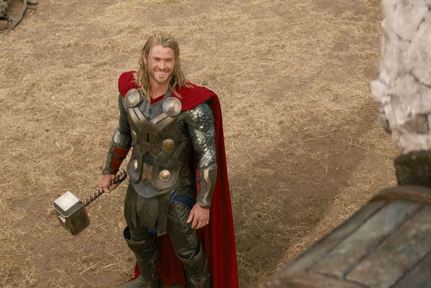 """Marvel's Thor: The Dark World""..Thor (Chris Hemsworth) and a Kronan...Ph: Film Frame..© 2013 MVLFFLLC. TM & © 2013 Marvel. All Rights Reserved."