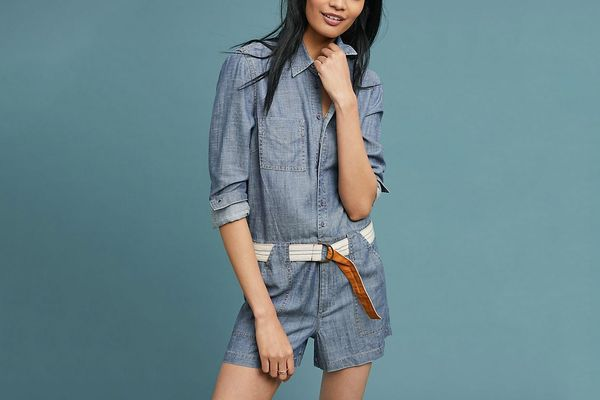 Level 99 Bailey Chambray Romper