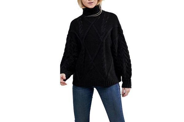 ASOS Cable Neck Sweater