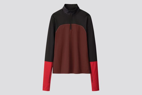 AIRism Half-Zip Long-Sleeve T-Shirt
