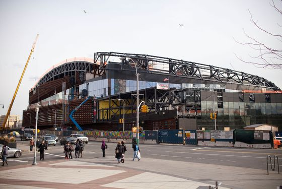 NEW YORK, NY - MARCH 05:  The Barclay Center, a sports arena and future home of the the National Basketball Association's New Jersey Nets, is seen under construction on March 5, 2012 at the intersection of Flatbush Avenue and Atlantic Avenue, in the Brooklyn borough of New York City. The stadium is scheduled to open September 28, 2012; the New Jersey Nets will be renamed the Brooklyn Nets.  (Photo by Andrew Burton/Getty Images)