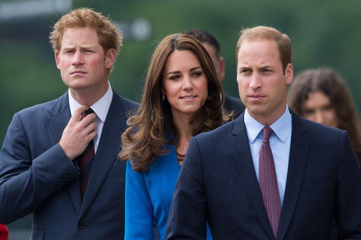 Prince Harry, Princess Kate, and Prince William. Photo: Samir Hussein/WireImage