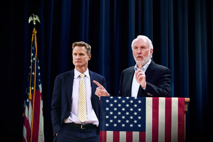 Presidential Candidate Gregg Popovich and Vice Presidential Candidate Steve Kerr