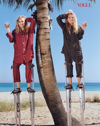 The Olsens in <em>Vogue</em>.