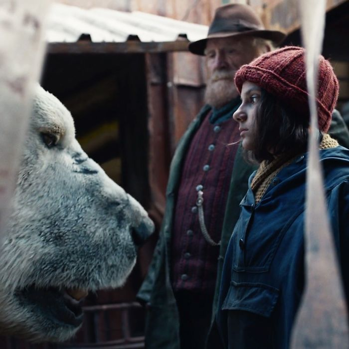 Dafne Keen as Lyra in His Dark Materials.