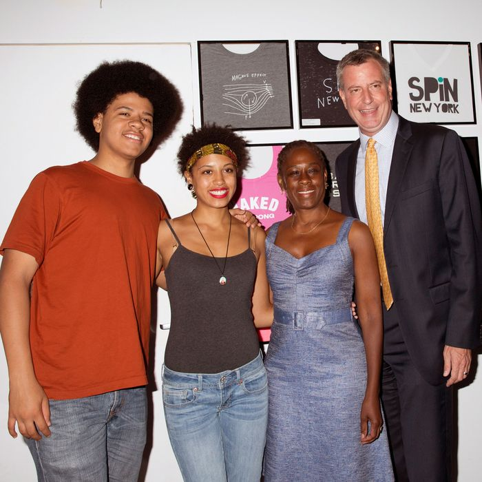 The de Blasio family.