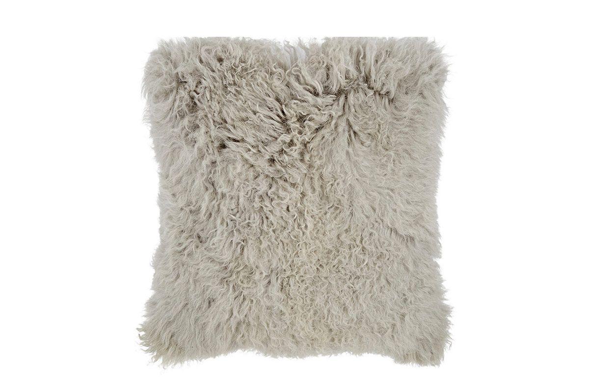 Aviva Stanoff Mongolian Fur Pillow