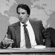 Kevin Nealon as Mr. Subliminal during 'Weekend Update' on April 20, 1991.