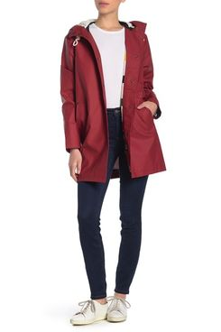 Pendleton Olympic Hooded Slicker Coat, Red