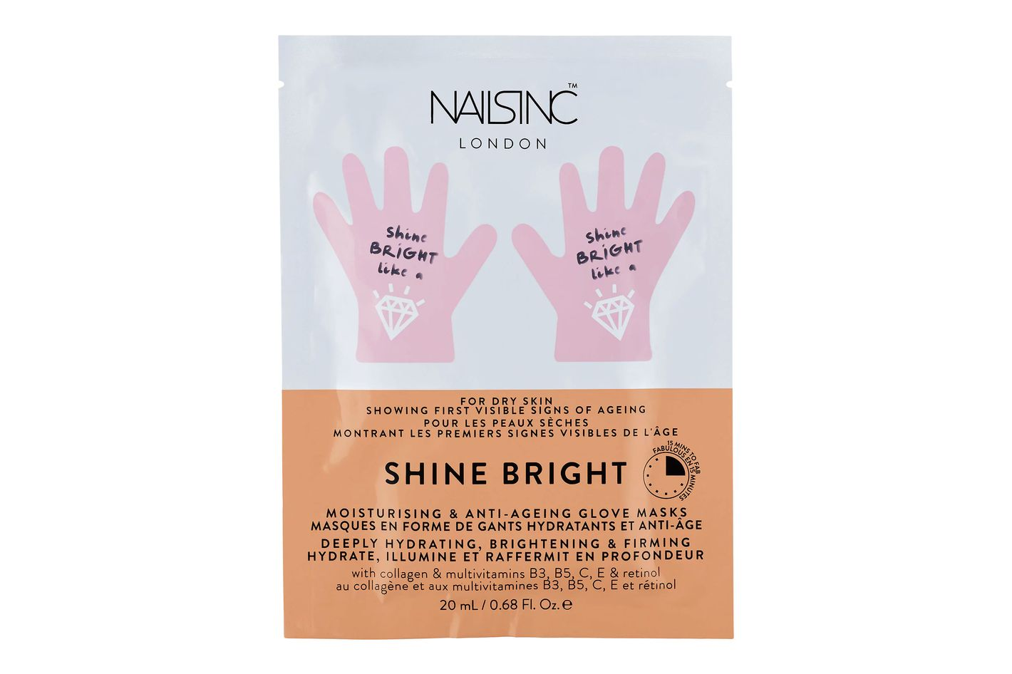 NAILS INC. Shine Bright Moisturising & Anti-Aging Hand Mask