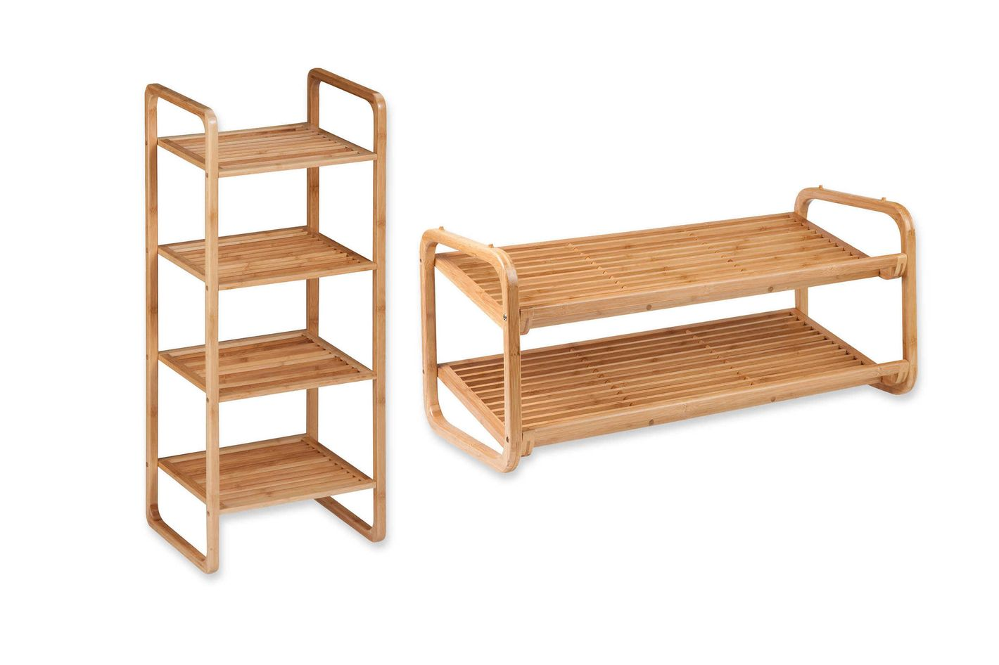 Honey-Can-Do 2-Tier Bamboo Shoe Rack