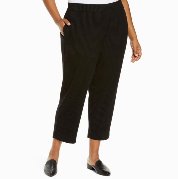 Eileen Fisher Rib Tapered Ankle Pants