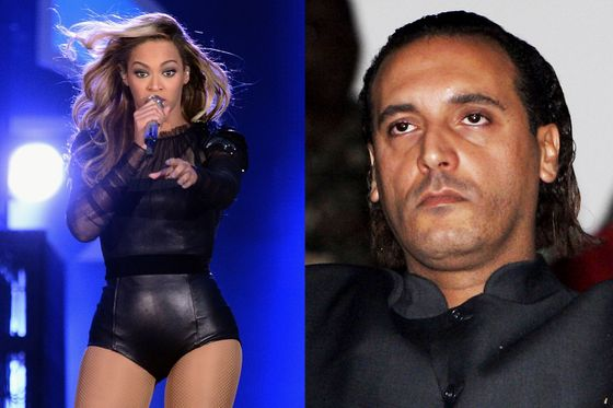 <b>Criminal ties:</b> In 2011, diplomatic cables obtained by Wikileaks confirmed previous reports that Beyoncé (along with Usher, 50 Cent, and Mariah Carey) had been paid up to $1 million to perform at parties thrown by Muammar Qaddafi's sons Hannibal (pictured) and Mutassim in Italy and St. Barths between 2005 and 2009. <b>Forgiven? </b>Entirely. Through a spokesperson, Beyoncé said that she donated her fee to earthquake relief in Haiti. Usher, 50 Cent, and Carey made similar pledges.