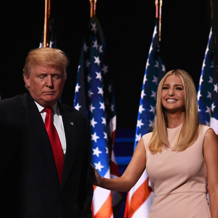 Donald Trump with Ivanka Trump.