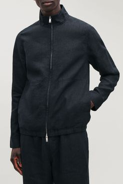 Linen Bomber Jacket