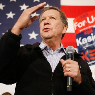 Presidential Candidate John Kasich Holds Campaign Rally At USS Yorktown