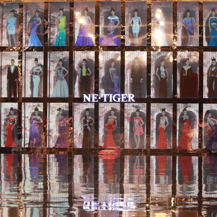 Models in the NE TIGER show.